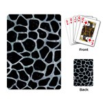 SKIN1 BLACK MARBLE & ICE CRYSTALS Playing Card
