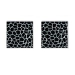 SKIN1 BLACK MARBLE & ICE CRYSTALS Cufflinks (Square)