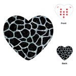 SKIN1 BLACK MARBLE & ICE CRYSTALS Playing Cards (Heart)