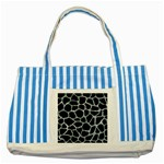 SKIN1 BLACK MARBLE & ICE CRYSTALS Striped Blue Tote Bag