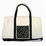 SKIN1 BLACK MARBLE & ICE CRYSTALS Two Tone Tote Bag