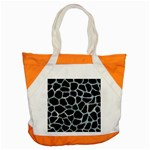 SKIN1 BLACK MARBLE & ICE CRYSTALS Accent Tote Bag