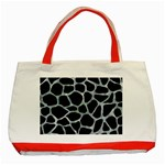 SKIN1 BLACK MARBLE & ICE CRYSTALS Classic Tote Bag (Red)