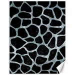 SKIN1 BLACK MARBLE & ICE CRYSTALS Canvas 12  x 16