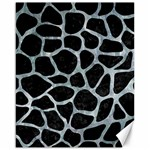 SKIN1 BLACK MARBLE & ICE CRYSTALS Canvas 16  x 20