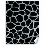 SKIN1 BLACK MARBLE & ICE CRYSTALS Canvas 18  x 24