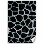 SKIN1 BLACK MARBLE & ICE CRYSTALS Canvas 24  x 36