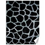 SKIN1 BLACK MARBLE & ICE CRYSTALS Canvas 36  x 48