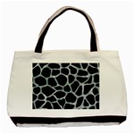 SKIN1 BLACK MARBLE & ICE CRYSTALS Basic Tote Bag (Two Sides)