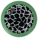 SKIN1 BLACK MARBLE & ICE CRYSTALS Color Wall Clocks