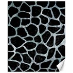 SKIN1 BLACK MARBLE & ICE CRYSTALS Canvas 11  x 14