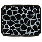 SKIN1 BLACK MARBLE & ICE CRYSTALS Netbook Case (Large)