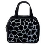 SKIN1 BLACK MARBLE & ICE CRYSTALS Classic Handbags (One Side)