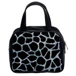 SKIN1 BLACK MARBLE & ICE CRYSTALS Classic Handbags (2 Sides)