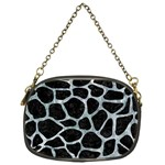 SKIN1 BLACK MARBLE & ICE CRYSTALS Chain Purses (One Side)