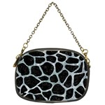 SKIN1 BLACK MARBLE & ICE CRYSTALS Chain Purses (Two Sides)