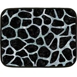 SKIN1 BLACK MARBLE & ICE CRYSTALS Double Sided Fleece Blanket (Mini)