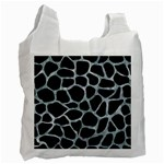 SKIN1 BLACK MARBLE & ICE CRYSTALS Recycle Bag (One Side)