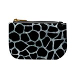 SKIN1 BLACK MARBLE & ICE CRYSTALS Mini Coin Purses
