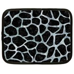 SKIN1 BLACK MARBLE & ICE CRYSTALS Netbook Case (XL)