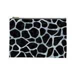 SKIN1 BLACK MARBLE & ICE CRYSTALS Cosmetic Bag (Large)