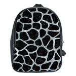 SKIN1 BLACK MARBLE & ICE CRYSTALS School Bag (Large)