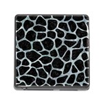 SKIN1 BLACK MARBLE & ICE CRYSTALS Memory Card Reader (Square)