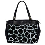 SKIN1 BLACK MARBLE & ICE CRYSTALS Office Handbags (2 Sides)