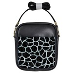 SKIN1 BLACK MARBLE & ICE CRYSTALS Girls Sling Bags