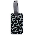 SKIN1 BLACK MARBLE & ICE CRYSTALS Luggage Tags (Two Sides)