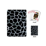 SKIN1 BLACK MARBLE & ICE CRYSTALS Playing Cards (Mini)