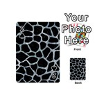 SKIN1 BLACK MARBLE & ICE CRYSTALS Playing Cards 54 (Mini)