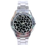 SKIN1 BLACK MARBLE & ICE CRYSTALS Stainless Steel Analogue Watch