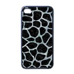 SKIN1 BLACK MARBLE & ICE CRYSTALS Apple iPhone 4 Case (Black)