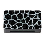 SKIN1 BLACK MARBLE & ICE CRYSTALS Memory Card Reader with CF