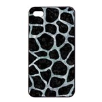 SKIN1 BLACK MARBLE & ICE CRYSTALS Apple iPhone 4/4s Seamless Case (Black)