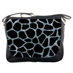SKIN1 BLACK MARBLE & ICE CRYSTALS Messenger Bags