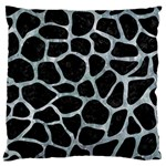 SKIN1 BLACK MARBLE & ICE CRYSTALS Large Cushion Case (Two Sides)