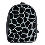 SKIN1 BLACK MARBLE & ICE CRYSTALS School Bag (XL)