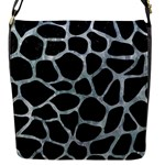 SKIN1 BLACK MARBLE & ICE CRYSTALS Flap Messenger Bag (S)