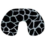 SKIN1 BLACK MARBLE & ICE CRYSTALS Travel Neck Pillows