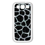 SKIN1 BLACK MARBLE & ICE CRYSTALS Samsung Galaxy S3 Back Case (White)