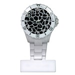 SKIN1 BLACK MARBLE & ICE CRYSTALS Plastic Nurses Watch