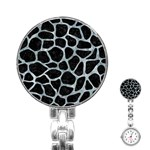 SKIN1 BLACK MARBLE & ICE CRYSTALS Stainless Steel Nurses Watch
