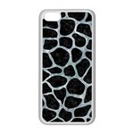 SKIN1 BLACK MARBLE & ICE CRYSTALS Apple iPhone 5C Seamless Case (White)