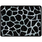 SKIN1 BLACK MARBLE & ICE CRYSTALS Double Sided Fleece Blanket (Large)
