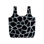 SKIN1 BLACK MARBLE & ICE CRYSTALS Full Print Recycle Bags (S)