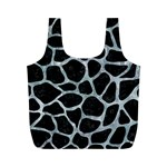 SKIN1 BLACK MARBLE & ICE CRYSTALS Full Print Recycle Bags (M)
