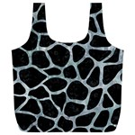 SKIN1 BLACK MARBLE & ICE CRYSTALS Full Print Recycle Bags (L)