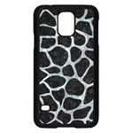 SKIN1 BLACK MARBLE & ICE CRYSTALS Samsung Galaxy S5 Case (Black)